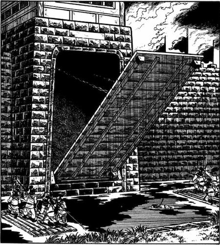 城の門があく